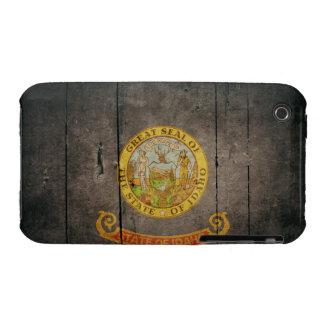 Rugged Wood Idaho Flag iPhone 3 Cases