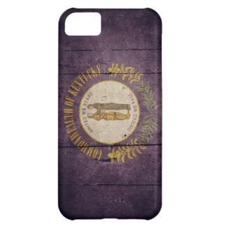 Rugged Wood Kentucky Flag iPhone 5C Case