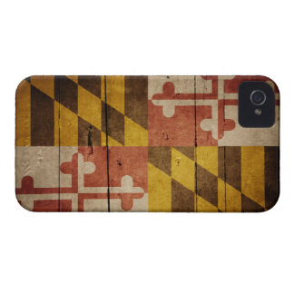 Rugged Wood Maryland Flag Case-Mate iPhone 4 Cases