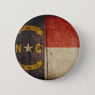 Rugged Wood North Carolina Flag 6 Cm Round Badge