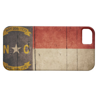 Rugged Wood North Carolina Flag iPhone 5 Cover
