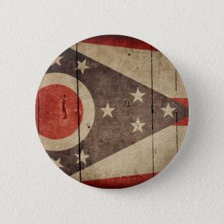 Rugged Wood Ohio Flag 6 Cm Round Badge
