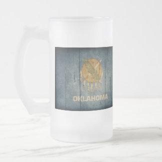 Rugged Wood Oklahoma Flag Coffee Mugs