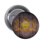 Rugged Wood Pennsylvania Flag Pinback Button