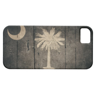 Rugged Wood South Carolina Flag Case For The iPhone 5