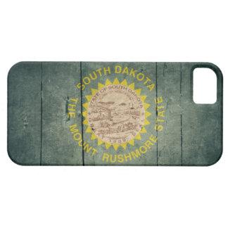 Rugged Wood South Dakota Flag iPhone 5 Covers