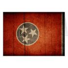 Rugged Wood Tennessee Flag Card