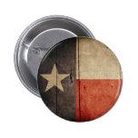 Rugged Wood Texas Flag 6 Cm Round Badge