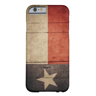 Rugged Wood Texas Flag Barely There iPhone 6 Case