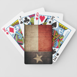 Rugged Wood Texas Flag Bicycle Playing Cards