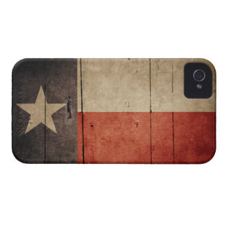 Rugged Wood Texas Flag Case-Mate iPhone 4 Cases