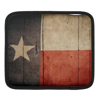 Rugged Wood Texas Flag iPad Sleeve