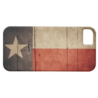 Rugged Wood Texas Flag iPhone 5 Cover