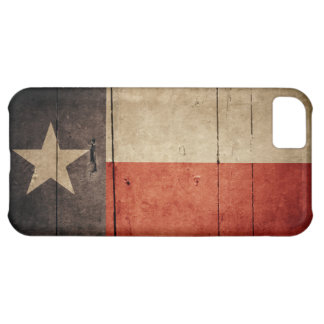Rugged Wood Texas Flag iPhone 5C Case