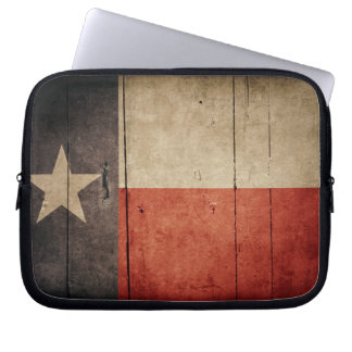 Rugged Wood Texas Flag Laptop Sleeve