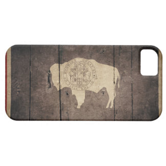 Rugged Wood Wyoming Flag iPhone 5 Cover