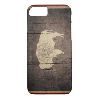 Rugged Wood Wyoming Flag iPhone 7 Case