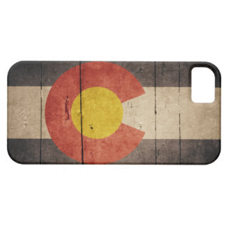 Rugged Wooden Colorado Flag iPhone 5 Cover