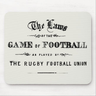 Ruggershirts Laws of Rugby Mousepad
