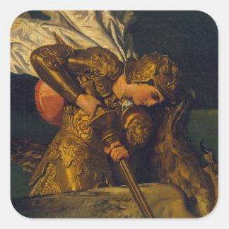 Ruggiero Rescuing Angelica Square Sticker
