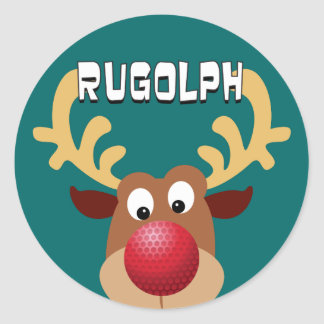 Rugolph The Reindeer Classic Round Sticker