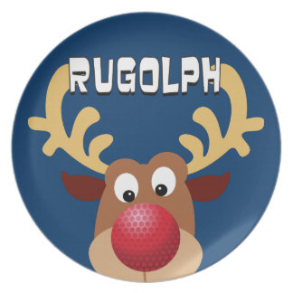 Rugolph The Reindeer Plate