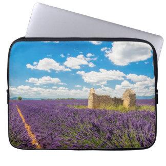 Ruin in Lavender Field, France Laptop Sleeve
