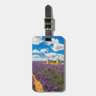 Ruin in Lavender Field, France Luggage Tag