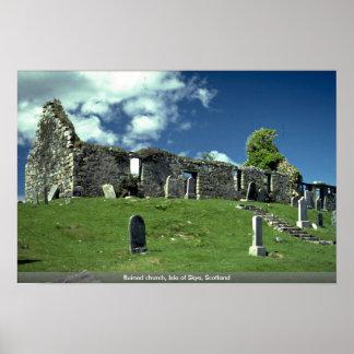 Ruined church, Isle of Skye, Scotland Poster