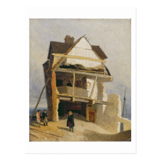 Ruined House, c.1807-10 (oil on millboard mounted Postcard