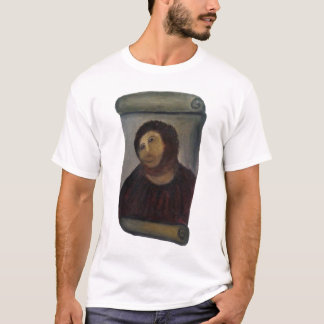 ruined jesus painting fresco - (latin: ecce homo) T-Shirt