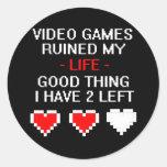 Ruined My Life, Style 2 Round Sticker