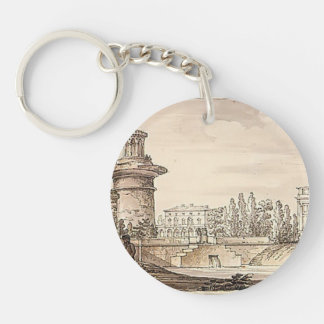 Ruined tower, Orlovsky gate by Giacomo Quarenghi Keychain