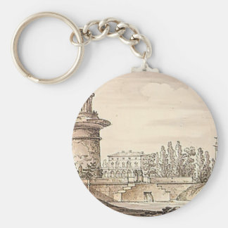 Ruined tower, Orlovsky gate by Giacomo Quarenghi Keychains