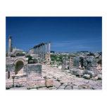 Ruins along South Colonnade Street, Jarash, Jordan Postcards