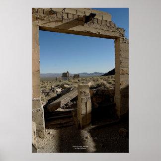 Ruins, Aurora, Nevada Poster