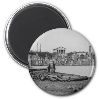Ruins by a Confederate Attempt to Burn Richmond Refrigerator Magnet