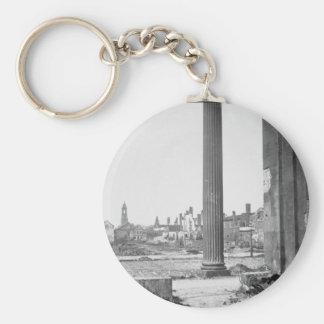 Ruins in Charleston_War Image Basic Round Button Key Ring