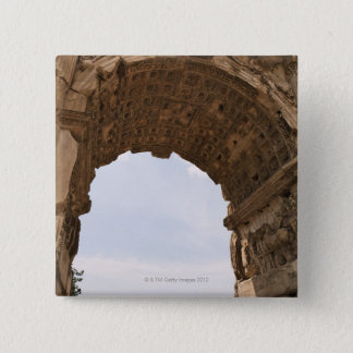 Ruins in Rome, Italy 15 Cm Square Badge