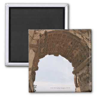 Ruins in Rome, Italy Square Magnet