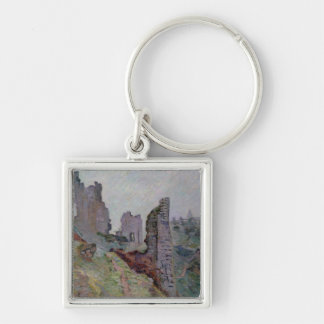 Ruins in the Fog at Crozant, 1894 (oil on canvas) Keychain