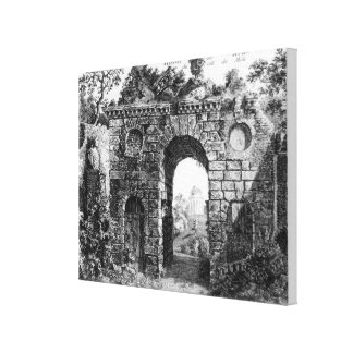 Ruins in the middle of Kew Gardens, from 'The Gard Canvas Print