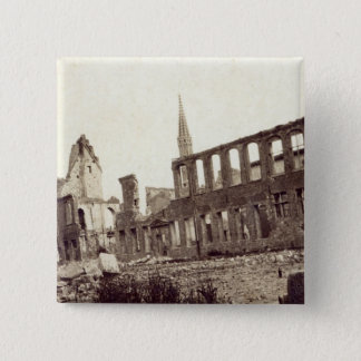 Ruins near the Powder Magazine, Ypres, June 1915 15 Cm Square Badge