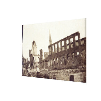 Ruins near the Powder Magazine, Ypres, June 1915 Canvas Print