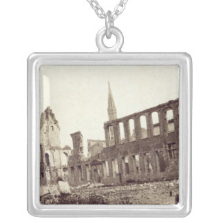 Ruins near the Powder Magazine, Ypres, June 1915 Silver Plated Necklace