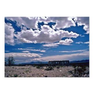 Ruins Of Abandoned House On Desert 13 Cm X 18 Cm Invitation Card