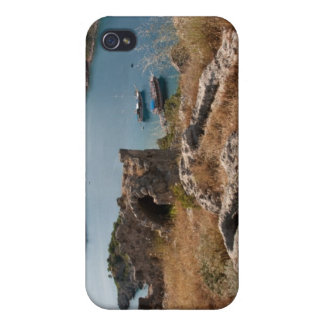 Ruins of ancient burial site on small island iPhone 4 case