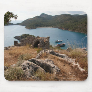 Ruins of ancient burial site on small island mouse pad