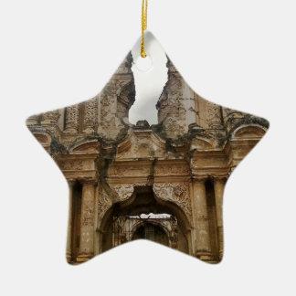 Ruins of Antigua Guatemala Ceramic Star Decoration