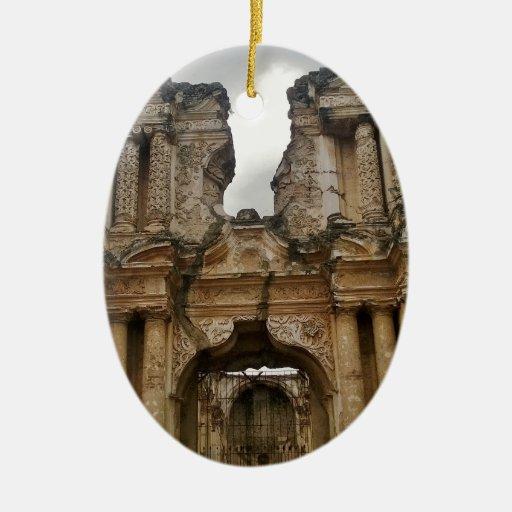 Ruins of Antigua Guatemala Christmas Tree Ornaments